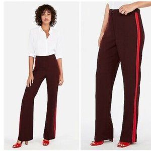 EXPRESS super high rise stripe wide leg pants